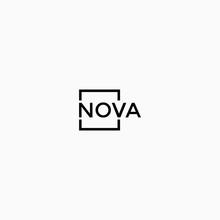 Square Frame Nova Letter  Logo...