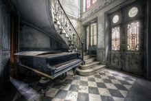 Piano In Abandoned Small Castl...