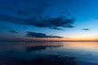 nice evening scene on lake