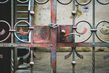 The Old Iron Gate Is Locked Wi...