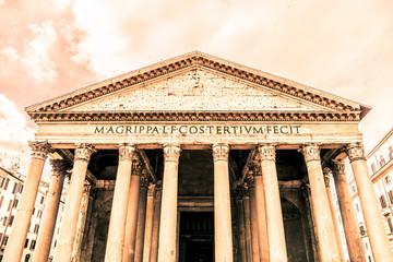 Panel Szklany Architektura Pantheon - former roman church in Rome, Italy