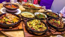 Chinese Food In Containers On Table