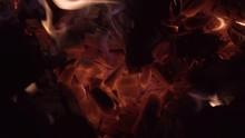 Close Up Shot Of Glowing Hot B...