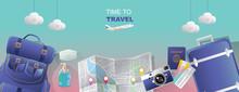 Travel Planning Concept. Top V...