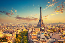 View On Paris At Summer Evening, France