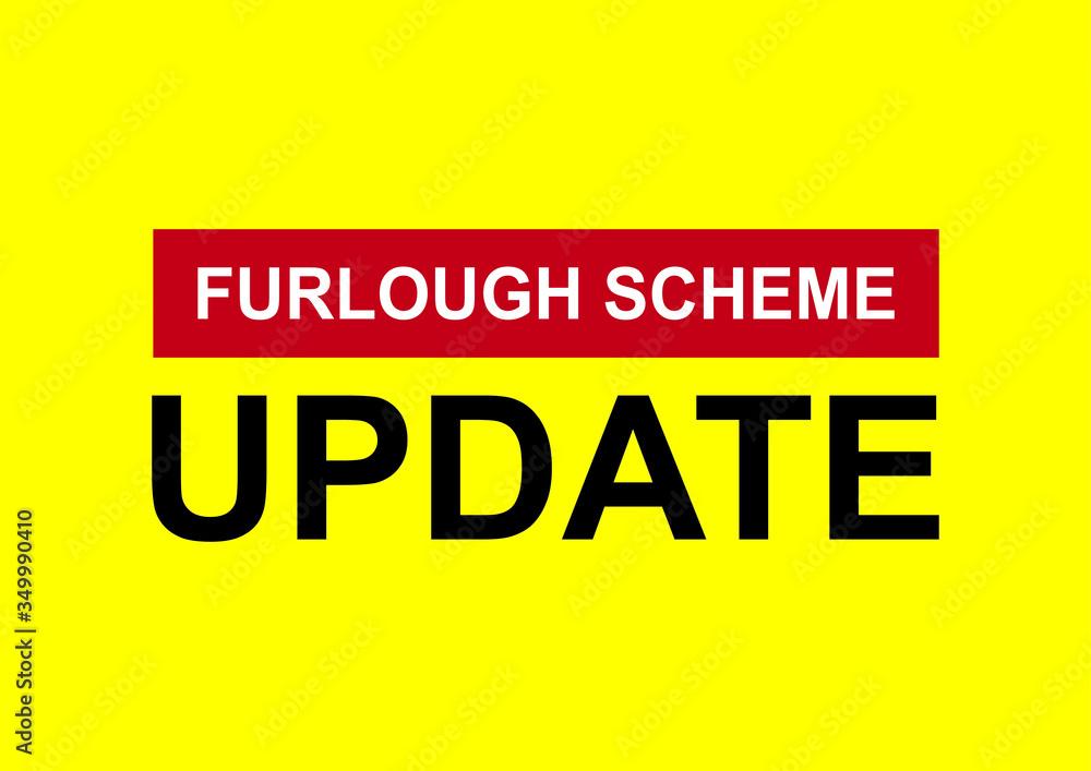 Fototapeta Furlough scheme extended vector