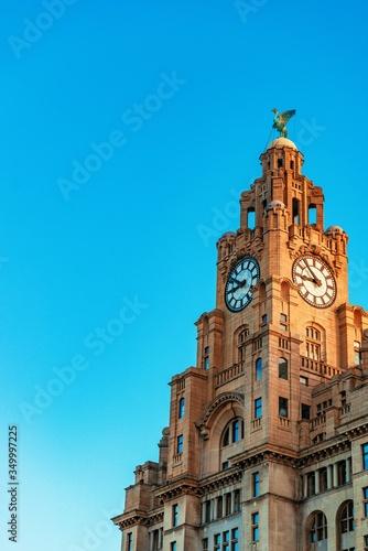 Liverpool city center cityscape closeup