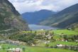 overlooking Flam in Norway