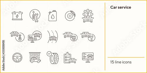 Photo Car service line icons