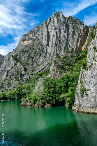Obraz na plátně Matka Canyon and Matka Lake - located west of central Skopje, North Macedonia