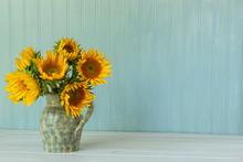 Sunflowers. Summer Bouquet In ...