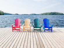 Chairs By The Lake Cottage Country