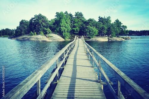 Photo View Of Empty Footbridge