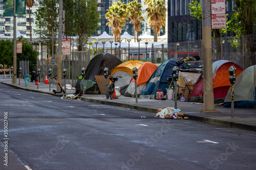 Homeless in San Francisco sheltering in place during the COVID-19 pandemic Canvas Print