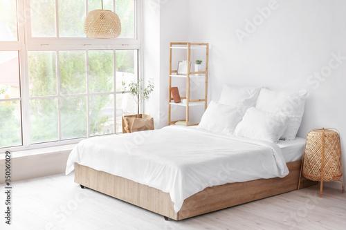 Interior of comfortable modern bedroom Fototapeta