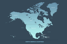 North America Map. Vector Map ...