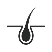 Hair Growth Icon Vector Design...