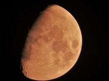 Low Angle View Of Moon In Clea...