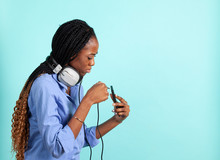 African American Young Woman W...