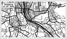 Salzburg Austria City Map In B...