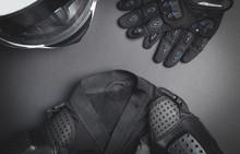 Helmet, Gloves, Jacket. Motorb...