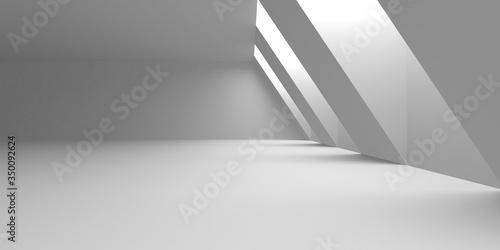 Fotografia Abstract White Architecture Design Concept