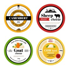 Cheese Label. Cow Goat Sheep D...
