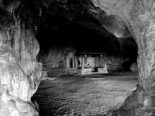 Empty Walkway In The Cave