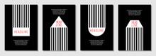 Black And White School Brochure Cover Vector Design