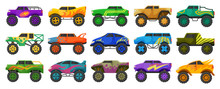 Monster Truck Isolated Cartoon...