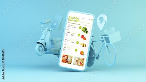 Платно online supermarket delivery app