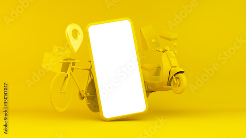 фотография Fast food home delivery concept