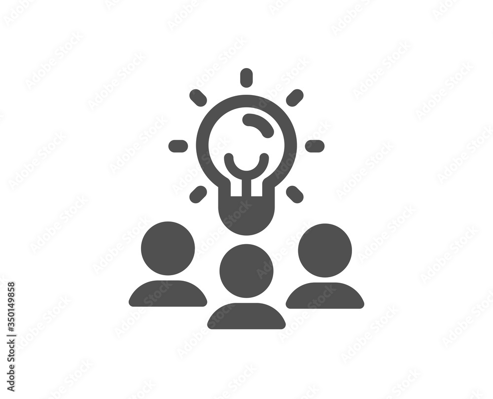 Fototapeta Business idea icon. People group sign. Teamwork meeting symbol. Classic flat style. Quality design element. Simple business idea icon. Vector