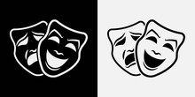 Theater Masks. Vector Illustra...