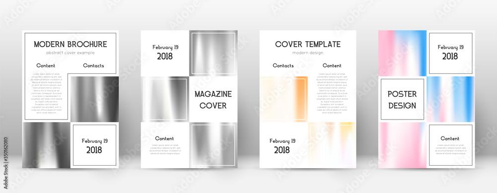 Fototapeta Flyer layout. Business resplendent template for Br