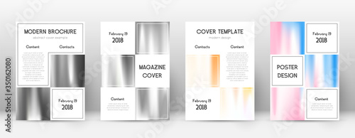 Fotomural Flyer layout. Business resplendent template for Br