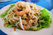 Spicy Lemongrass Salad With Sh...