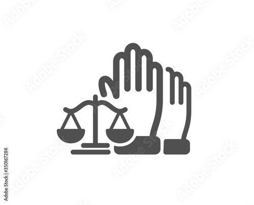 Stampa su Tela Court jury voting icon