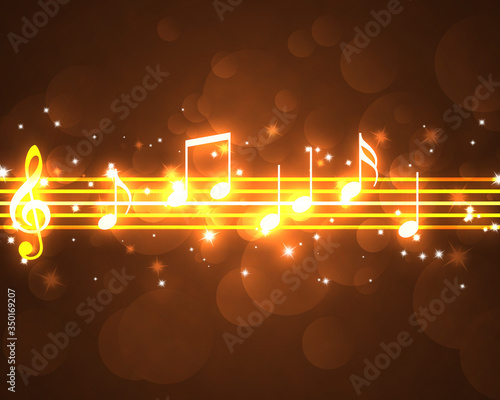 burning musical symbols Wallpaper Mural