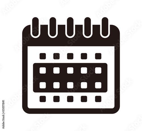 Obraz Time span vector icon illustration / 2 weeks - fototapety do salonu