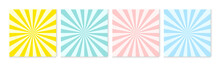Background Pattern Sun Ray Abstract Colorful Pastel Colors. Summer Background Design.
