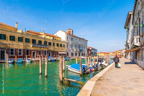 Photo Fondamenta Navagero Andrea in Murano in Venice in Veneto, Italy