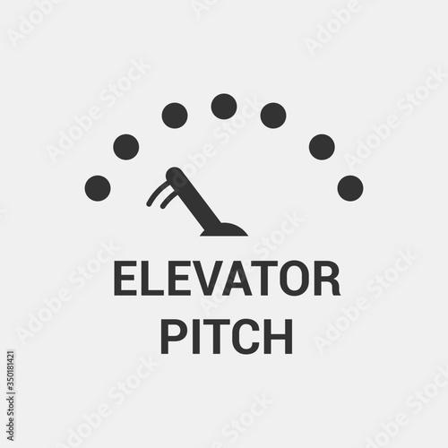 Photo Elevator Pitch Icon. Vector Illustrator
