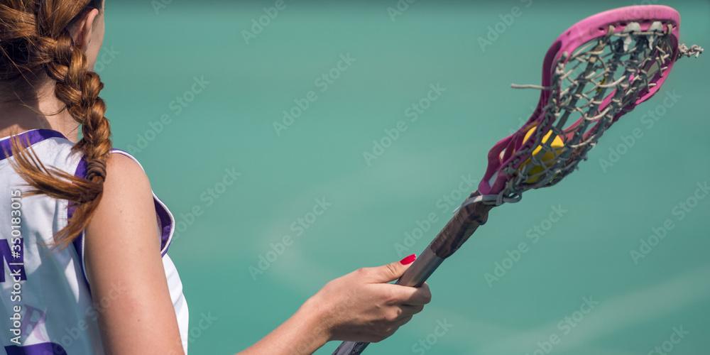 Fototapeta lacrosse woman