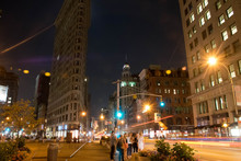 People Standing By Flatiron Bu...