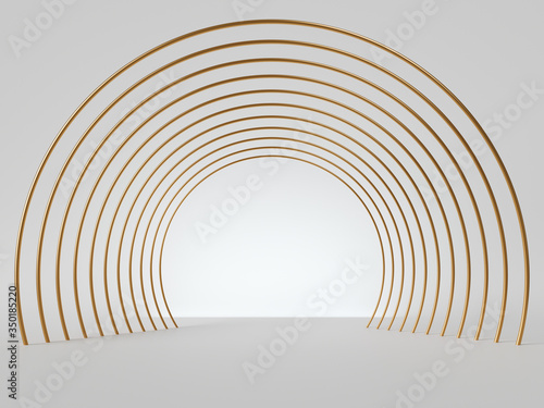 Photo 3d render, abstract minimal art deco geometric background