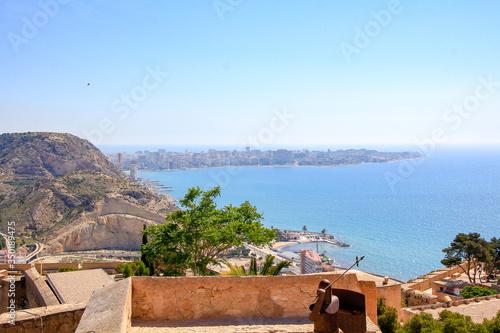 Alicante Spain; 07/22/2018: castle of santa barbara de alicante Canvas Print