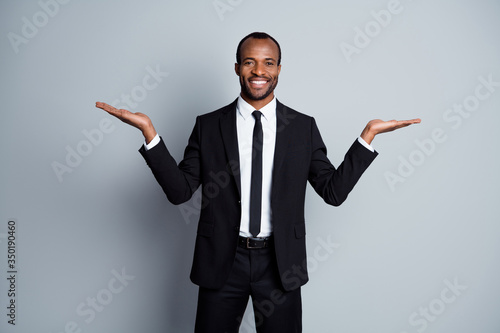 Canvas Print Portrait of his he nice attractive chic classy elegant cheerful cheery content g