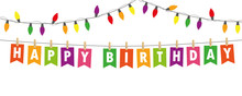 Happy Birthday Party Flags Ban...
