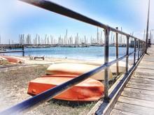 Rowboats On Beach